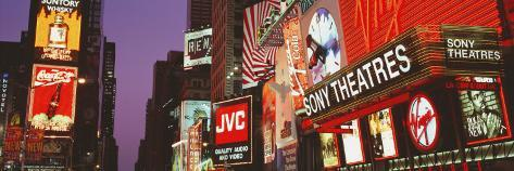 Billboards on Buildings, Times Square, New York City, New York State, USA Photographic Print