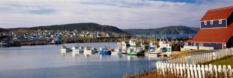 Boats in a Harbor, Bonavista Harbour, Newfoundland, Newfoundland and Labrador, Canada Photographic Print