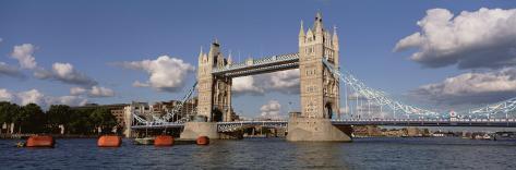 Bridge Over a River, Tower Bridge, Thames River, London, England, United Kingdom Photographic Print