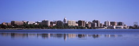 Buildings at the Waterfront, Lake Monona, Madison, Dane County, Wisconsin, USA Photographic Print