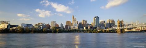 Buildings at the Waterfront, Ohio River, Cincinnati, Ohio, USA Photographic Print