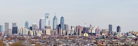 Buildings in a City, Comcast Center, City Hall, William Penn Statue, Philadelphia Photographic Print