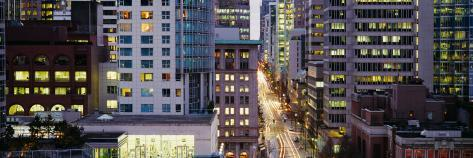 Buildings in a City, Hornby Street, Vancouver, British Columbia, Canada Photographic Print