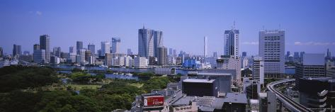 Buildings in Tokyo Prefecture, Japan Photographic Print