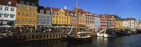 Buildings on the Waterfront, Nyhavn, Copenhagen, Denmark Photographic Print