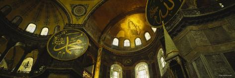 Ceiling of Aya Sophia, Istanbul, Turkey Photographic Print