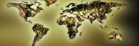 Close-Up of a World Map Photographic Print