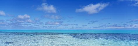 Clouds over the Pacific Ocean, Rangiroa, French Polynesia Photographic Print