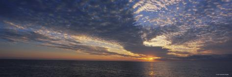 Clouds over the Sea at Sunset, Venice, Florida, USA Photographic Print