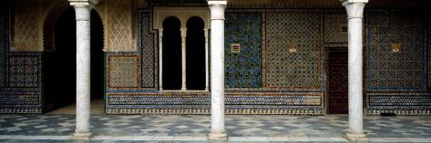 Colonnade in a Palace, Casa De Pilatos, Seville, Seville Province, Andalusia, Spain Stretched Canvas Print