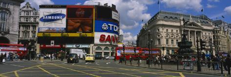 Commercial Signs on Buildings, Piccadilly Circus, London, England Wall Decal