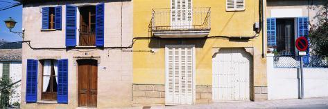 Facade of a Building, Majorca, Spain Photographic Print