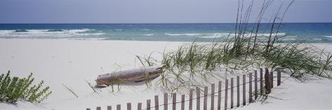 Fence on the Beach, Alabama, Gulf of Mexico, USA Photographic Print