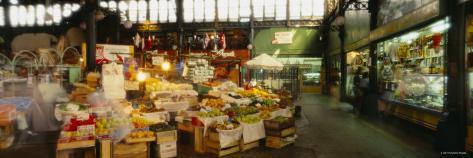 Fruit Boxes in a Market, Mercado Central, Santiago, Chile Photographic Print