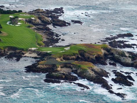 Golf Course on an Island, Pebble Beach Golf Links, Pebble Beach, Monterey County, California, USA Photographic Print