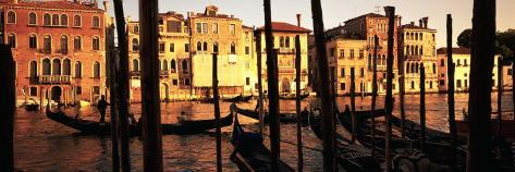 Gondolas in a Canal, Venice, Italy Photographic Print