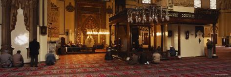 Group of People Praying in a Mosque, Ulu Camii, Bursa, Turkey Photographic Print