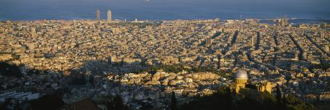 High Angle View of a Cityscape, Barcelona, Spain Photographic Print
