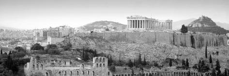 High Angle View of Buildings in a City, Parthenon, Acropolis, Athens, Greece Photographic Print