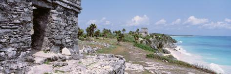 High Angle View of the Beach, Tulum, Yucatan Peninsula, Mexico Photographic Print
