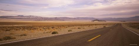 Highway Passing through the Desert, Nevada, USA Photographic Print