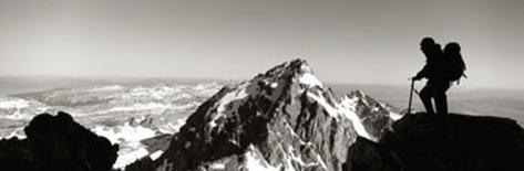 Hiker, Grand Teton Park, Wyoming, USA Photographic Print