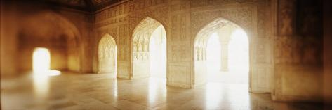Interiors of a Hall, Agra Fort, Agra, Uttar Pradesh, India Photographic Print