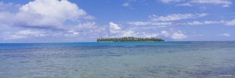 Island Viewed from the Ocean, Bora Bora, French Polynesia Photographic Print