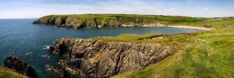 Kilmurrin Cove in the Copper Coast Geopark, Near Boatstrand, County Waterford, Ireland Wall Decal