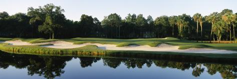 Lake in a Golf Course, Kiawah Island Golf Resort, Kiawah Island, Charleston County Photographic Print