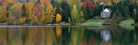 Lake with House, Canada Photographic Print