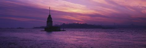Leander's Tower and Blue Mosque, Istanbul, Turkey Photographic Print