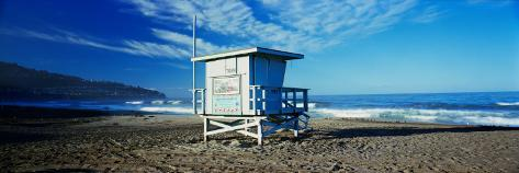 Lifeguard Hut on the Beach, Torrance Beach, Torrance, Los Angeles County, California, USA Photographic Print