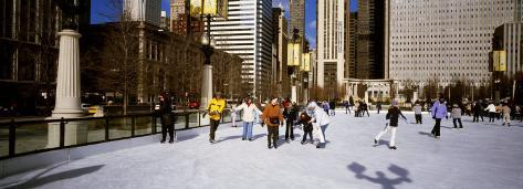 Millennium Park Ice Skating Rink, Chicago, Illinois, USA Photographic Print