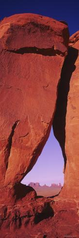 Natural Arch at a Desert, Teardrop Arch, Monument Valley Tribal Park, Monument Valley, Utah, USA Photographic Print