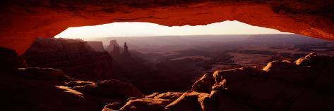 Natural Arch at Sunrise, Mesa Arch, Canyonlands National Park, Utah, USA Photographic Print