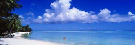 Ocean, Water, Clouds, Relaxing, Matira Beach, Tahiti, French Polynesia, South Pacific, Island Wall Decal