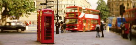 Phone Box, Trafalgar Square Afternoon, London, England, United Kingdom Photographic Print