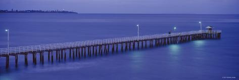 Pier at Dusk, Point Lonsdale, Geelong, Victoria, Australia Photographic Print
