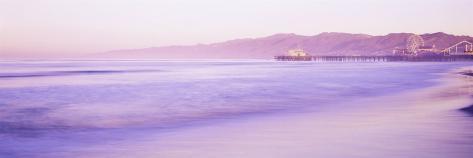 Pier Stretched Into the Sea, Santa Monica, California, USA Photographic Print