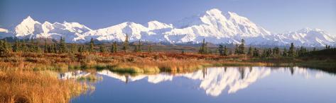 Pond, Alaska Range, Denali National Park, Alaska, USA Photographic Print