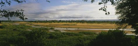 River Flowing through a Landscape, South Africa Photographic Print
