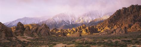 Rock Formations on a Landscape, Alabama Hills, California, USA Photographic Print