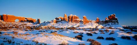 Rock Formations on a Landscape, Arches National Park, Utah, USA Photographic Print
