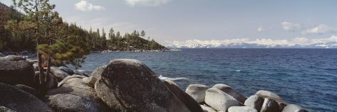 Rocks on the Coast, Lake Tahoe, California, USA Photographic Print