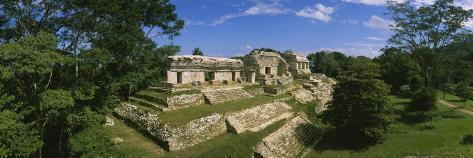 Ruins of a Palace, Palenque, Chiapas, Mexico Photographic Print