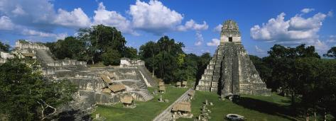 Ruins of an Old Temple, Tikal, Guatemala Photographic Print
