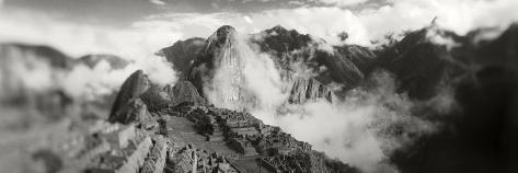 Ruins of Buildings at an Archaeological Site, Inca Ruins, Machu Picchu, Cusco Region, Peru Photographic Print