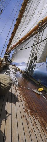 Sailboat Deck Photographic Print