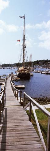 Sailboats at a Harbor, Camden, Knox County, Maine, USA Photographic Print